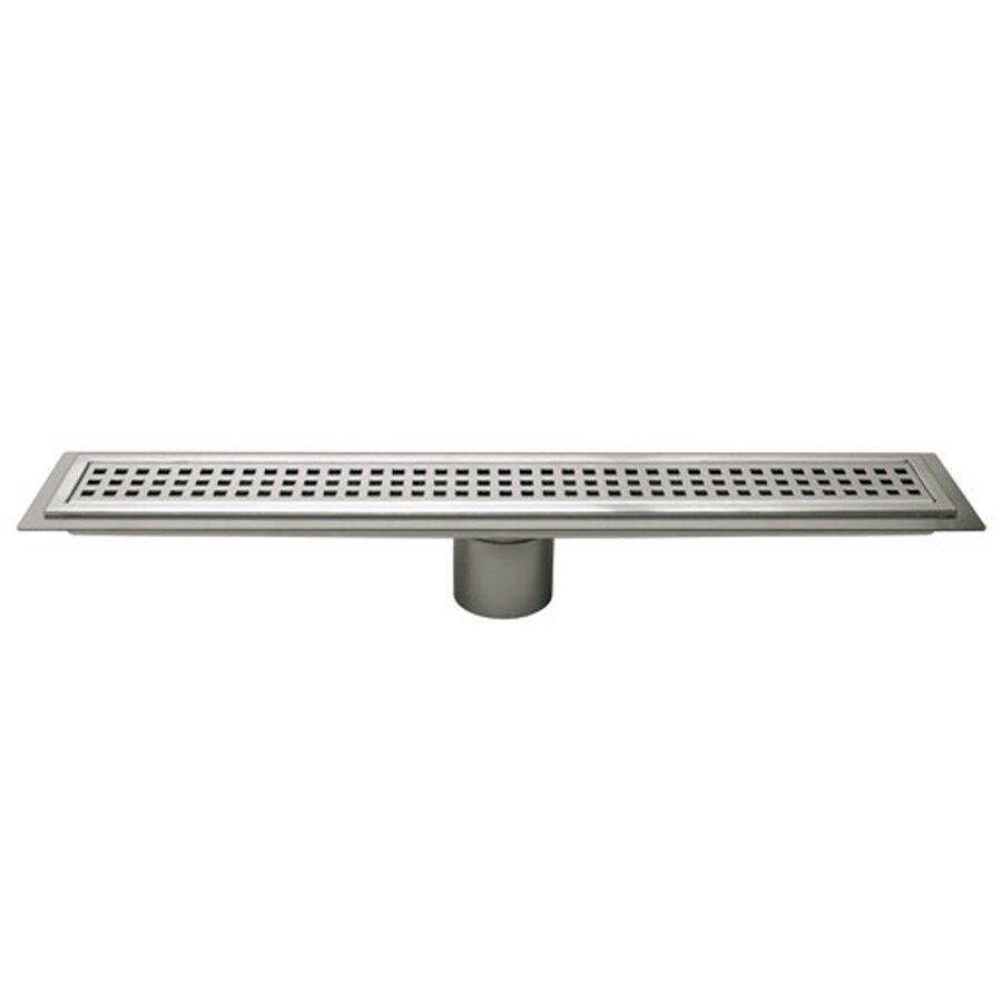 Schluter Systems Kerdi Line 27.563-in Stainless Steel Stainless Steel Grate