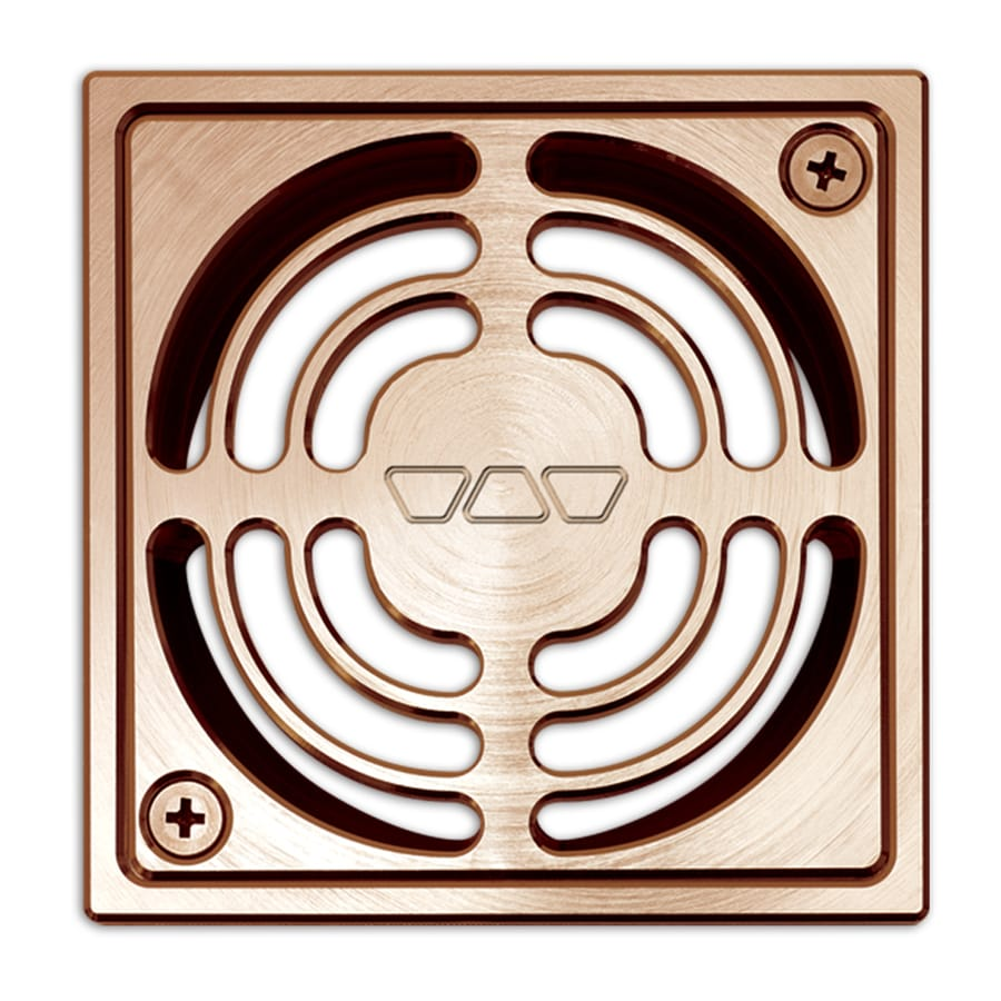 Schluter Systems Kerdi-Drain 4-in Copper Anodized Aluminum Grate