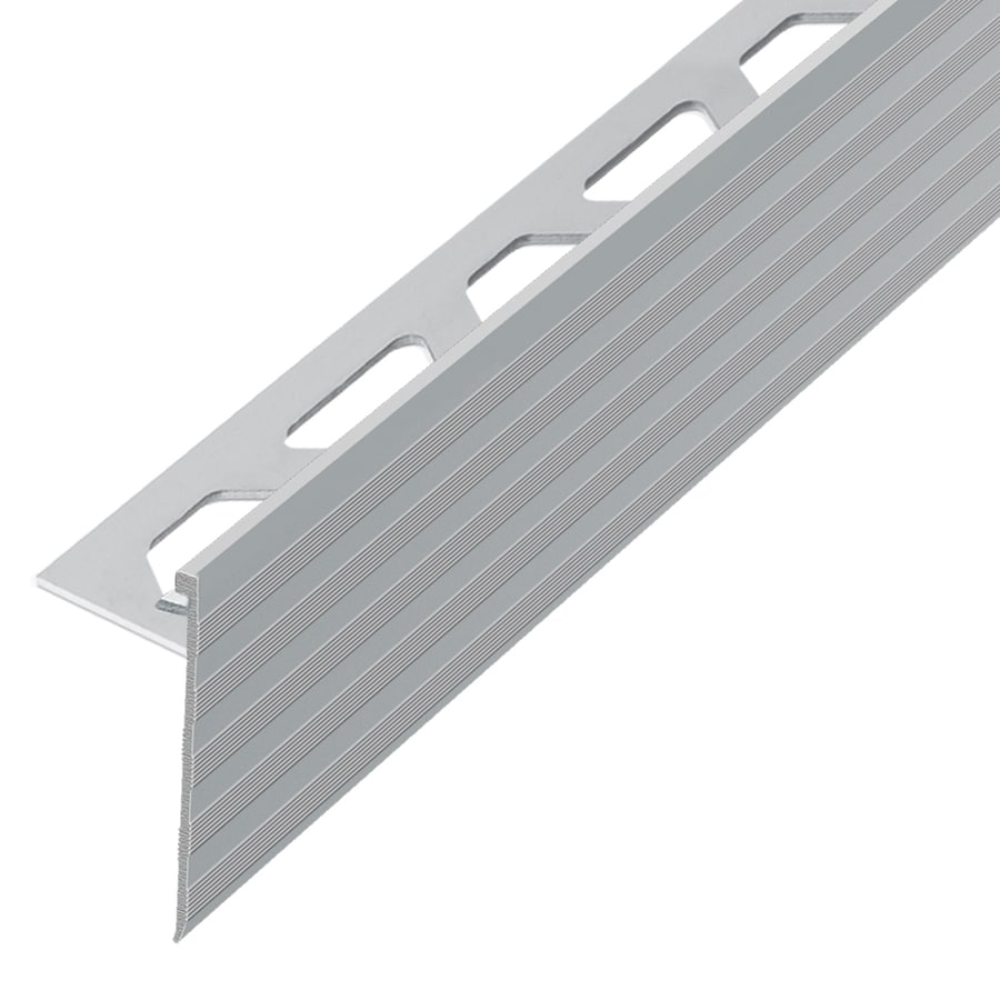 Schluter Systems Schiene-Step 0.375-in W x 98.5-in L Aluminum Tile Edge Trim