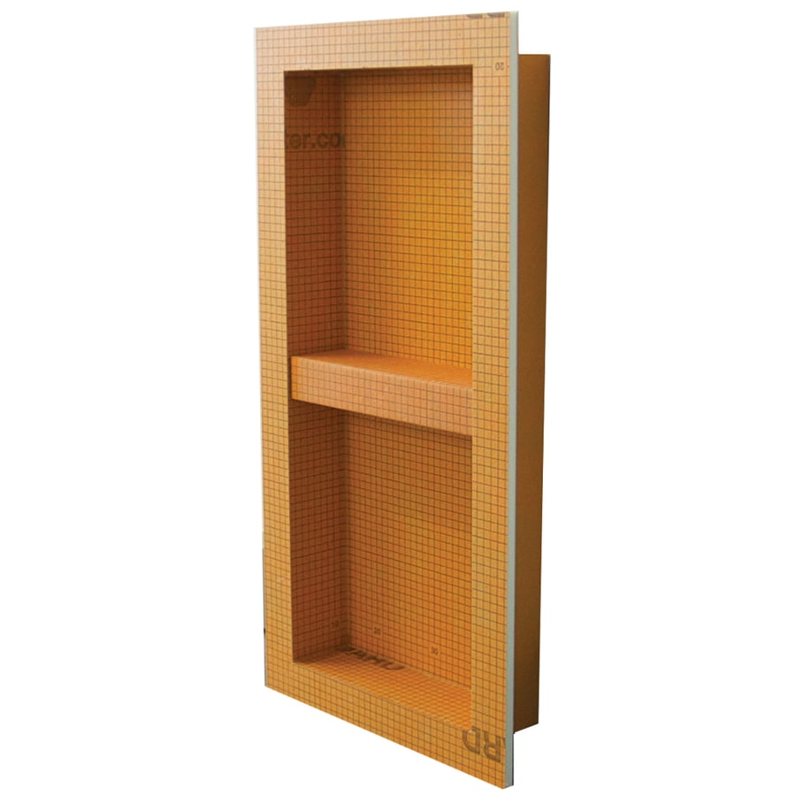Schluter Systems Kerdi Board Niche Orange Shower Wall Shelf