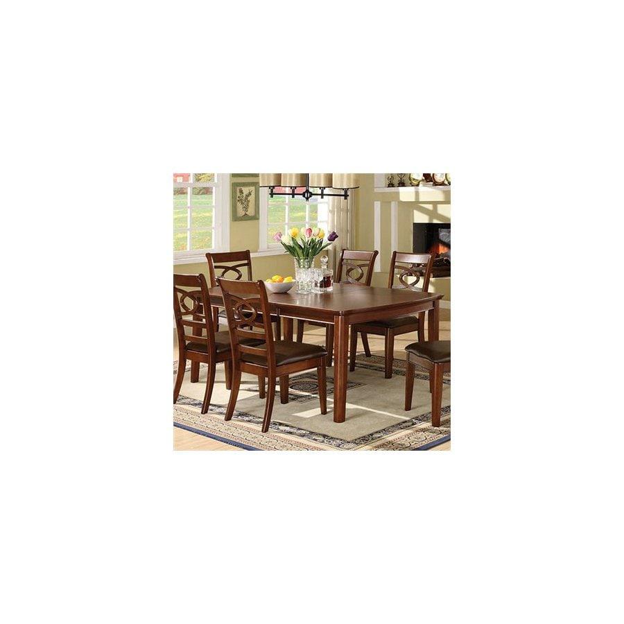 Furniture of America Carlton Brown Cherry Rectangular Dining Table
