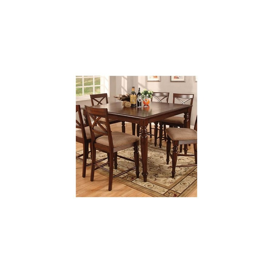 Furniture of America Myrtle Beach Dark Oak Square Dining Table