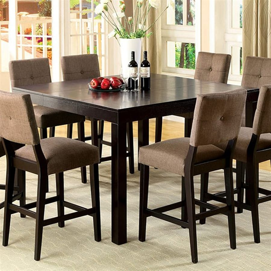 Furniture of America Bay Side Espresso Square Dining Table