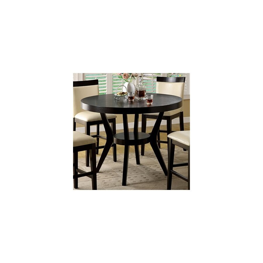 Furniture of America Downtown Espresso Round Dining Table