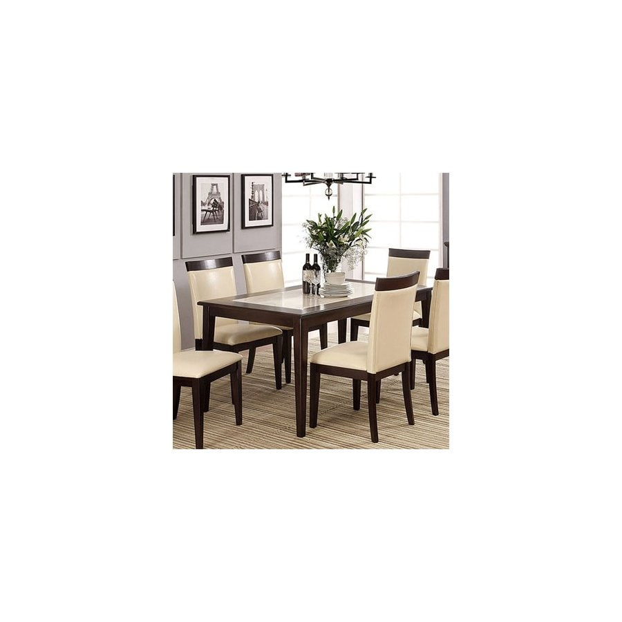 Furniture of America Evious Espresso Rectangular Dining Table