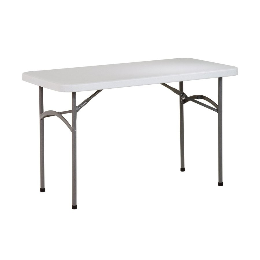 Office Star 48-in x 24-in Rectangle Steel Powder-Coated Folding Table