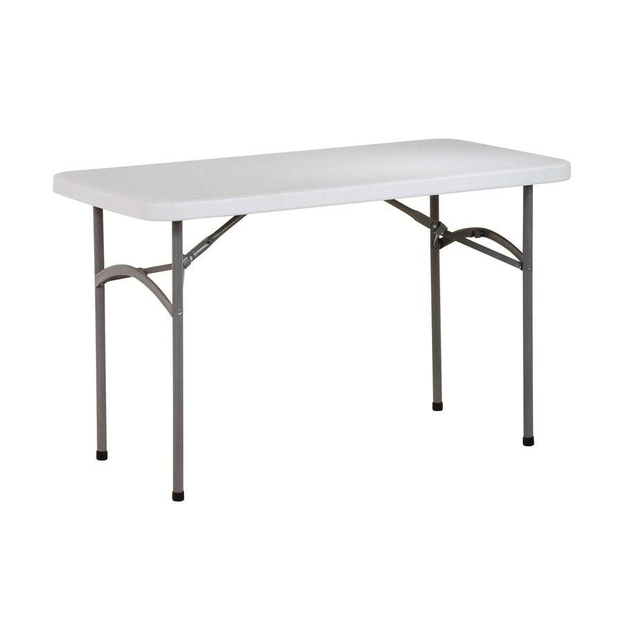 Office Star 48 In X 24 Rectangle Steel Grey Nebula Folding Table