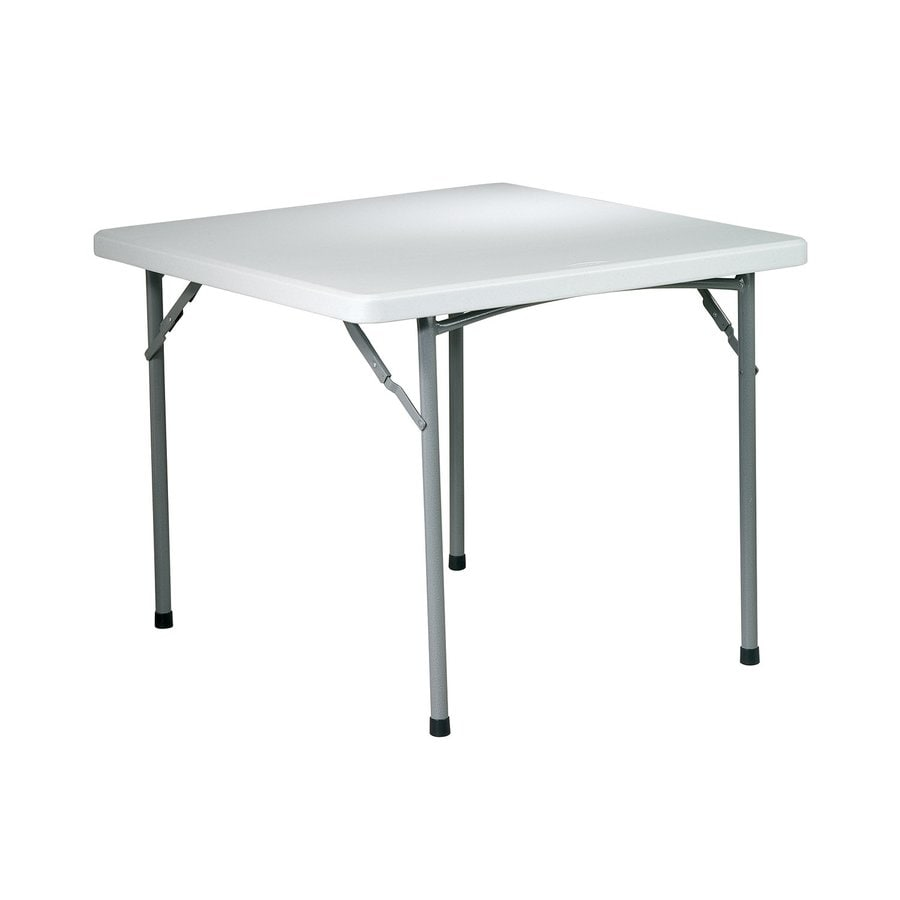 Office Star 36 In X 36 In Square Steel Grey Nebula Folding Table