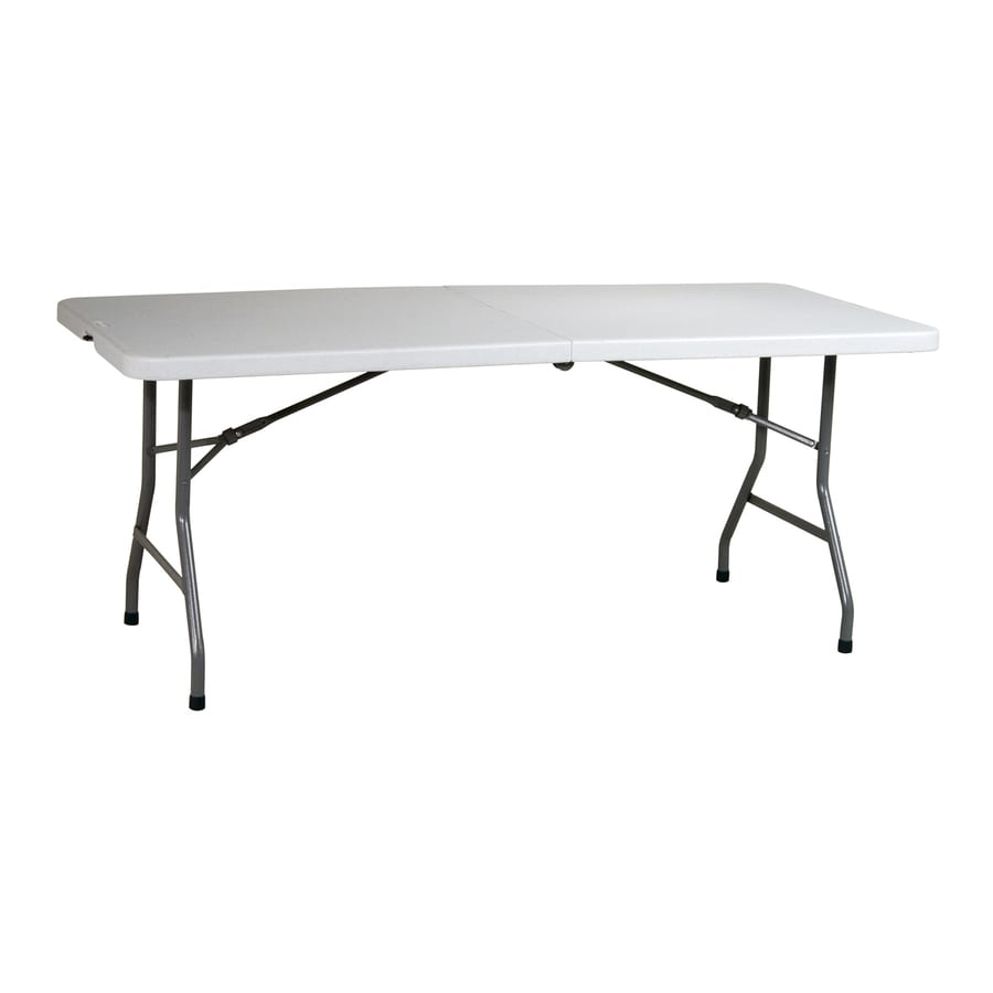 Office Star 72-in x 30-in Rectangle Steel Grey Nebula Folding Table