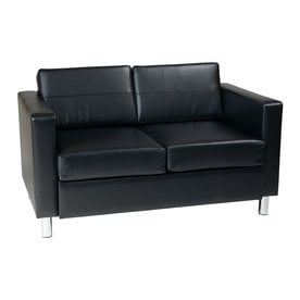 Superieur OSP Home Furnishings Avenue Six Modern Black Vinyl Loveseat