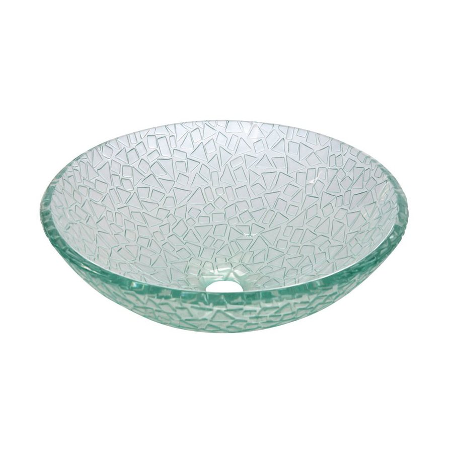 Shop Elements Of Design Nordica Crystal Clear Glass Vessel Round Bathroom Sink At