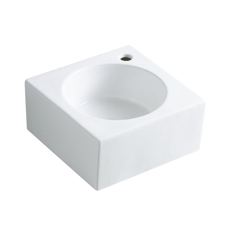 Elements of Design Villa White Vessel Round Bathroom Sink