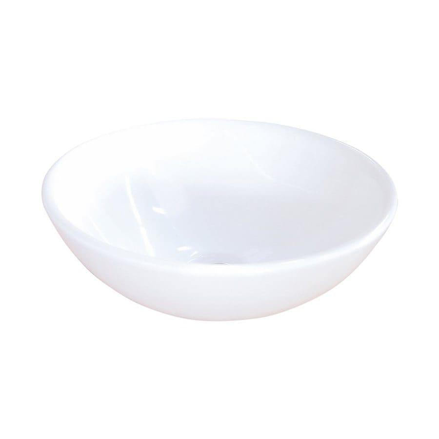 Shop Elements Of Design Serene White Vessel Round Bathroom Sink At