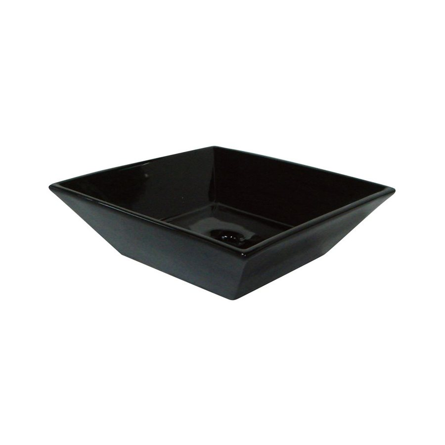 Shop Elements Of Design Artisan Black Vessel Square Bathroom Sink At