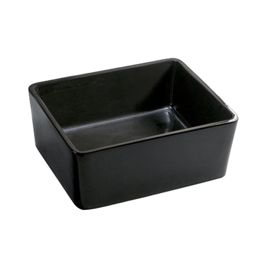 Elements of Design Elements Black Vessel Rectangular Bathroom Sink