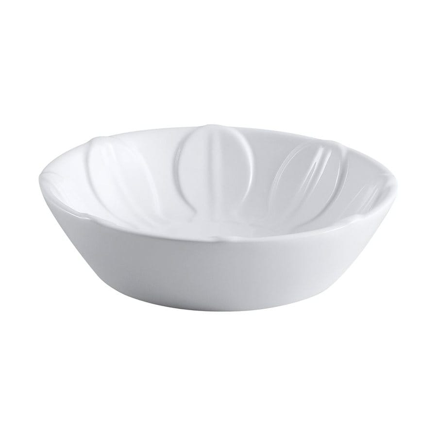 Shop Elements Of Design Glover White Vessel Round Bathroom Sink At