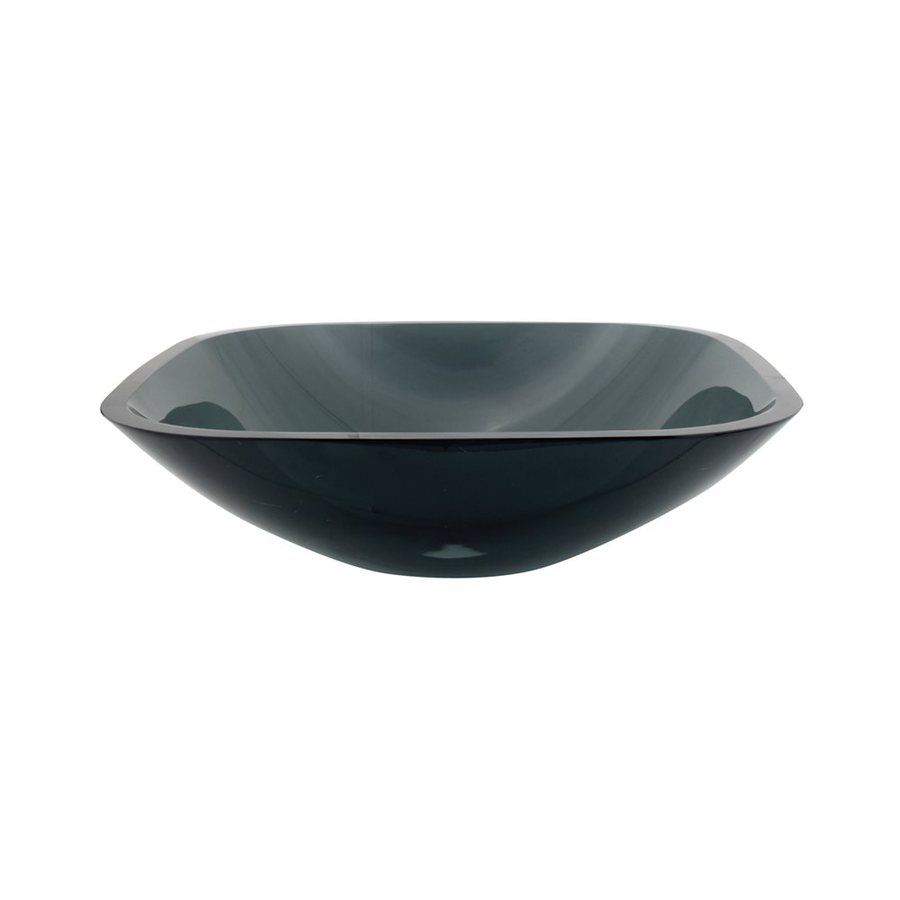 Shop Elements Of Design Fauceture Black Glass Vessel