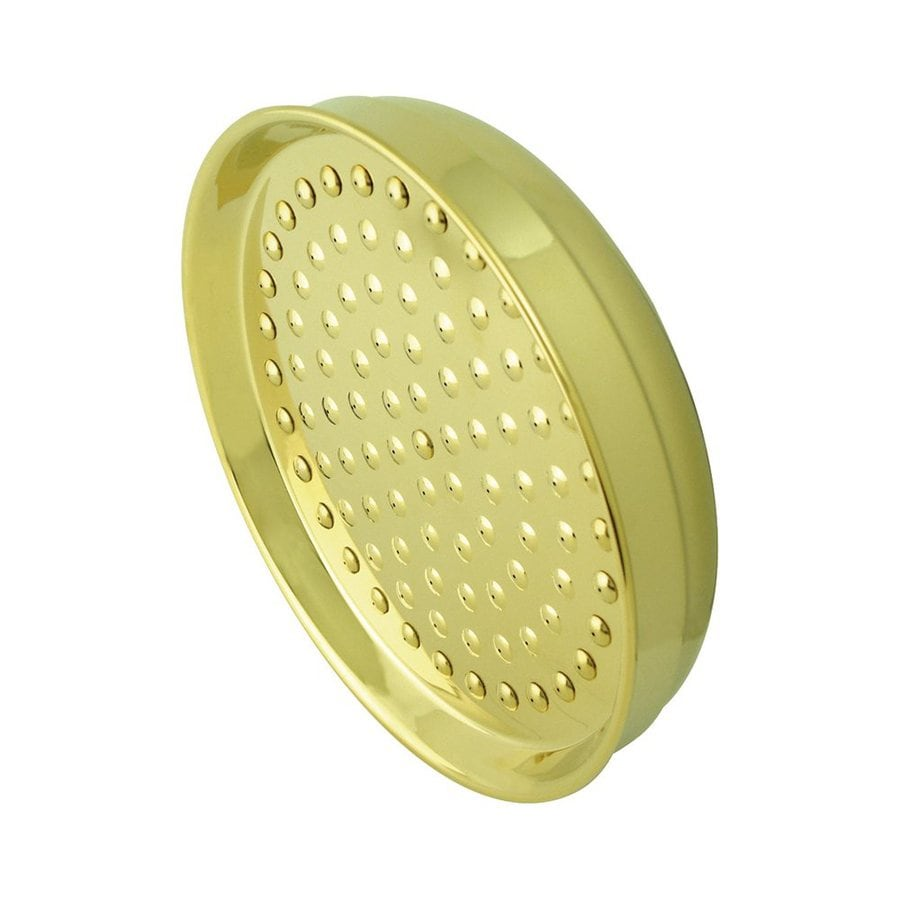 Elements of Design Hot Springs 8-in 2.5-GPM (9.5-LPM) Polished Brass Rain Showerhead