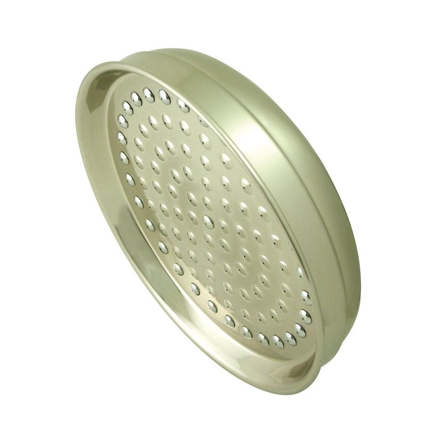 Elements of Design Hot Springs 8-in 2.5-GPM (9.5-LPM) Satin Nickel Rain Showerhead