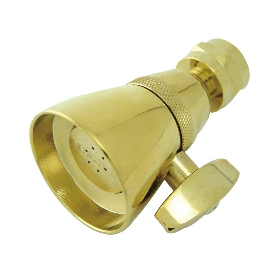 Elements of Design Polished Brass 1-Spray Shower Head