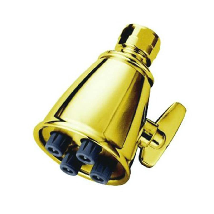 Elements of Design Victorian 2.25-in 2.5-GPM (9.5-LPM) Polished Brass Showerhead