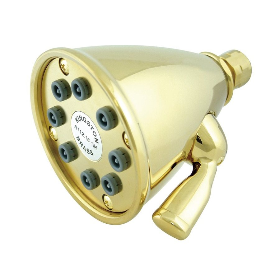Elements of Design Victorian 3.625-in 2.5-GPM (9.5-LPM) Polished Brass Showerhead