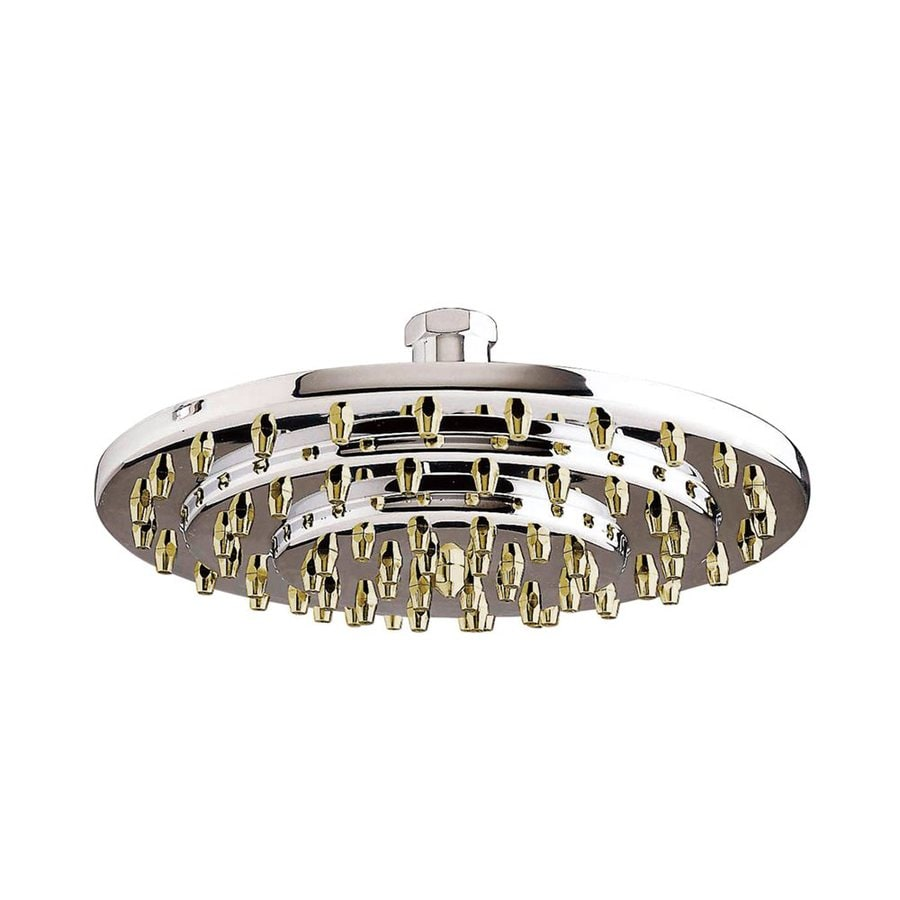 Elements of Design Milano 8-in 2.5-GPM (9.5-LPM) Polished Chrome and Brass Showerhead