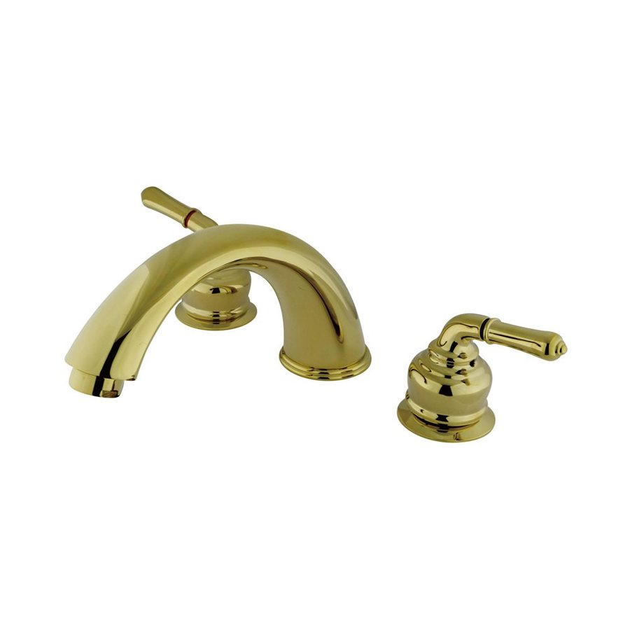 Elements of Design Magellan Polished Brass 2-Handle Adjustable Deck Mount Bathtub Faucet