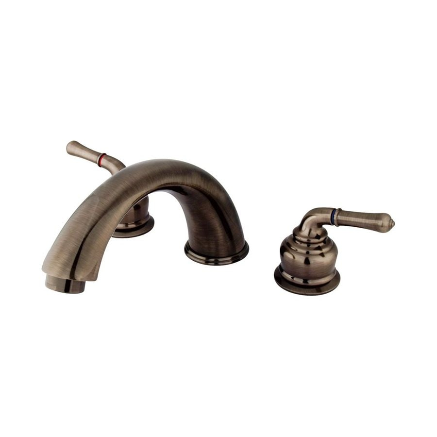 Elements of Design Magellan Vintage Nickel 2-Handle-Handle Adjustable Deck Mount Bathtub Faucet