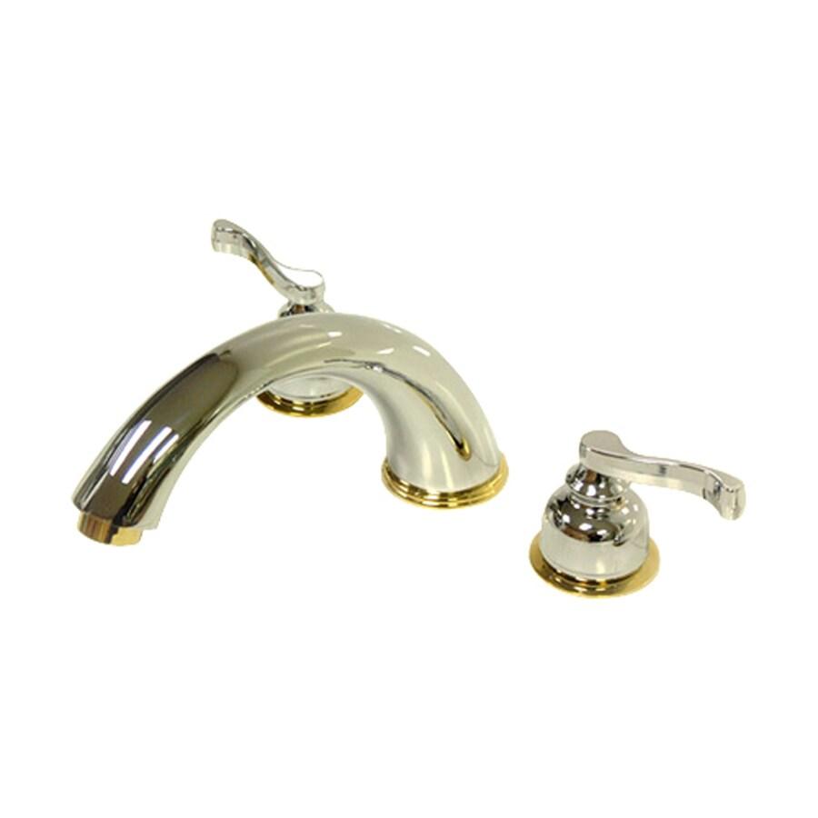 Elements of Design Chrome/Polished Brass 2-Handle Adjustable Deck Mount Bathtub Faucet