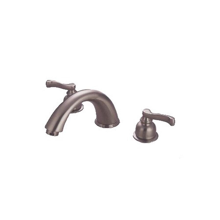 Elements of Design Satin Nickel 2-Handle Adjustable Deck Mount Bathtub Faucet