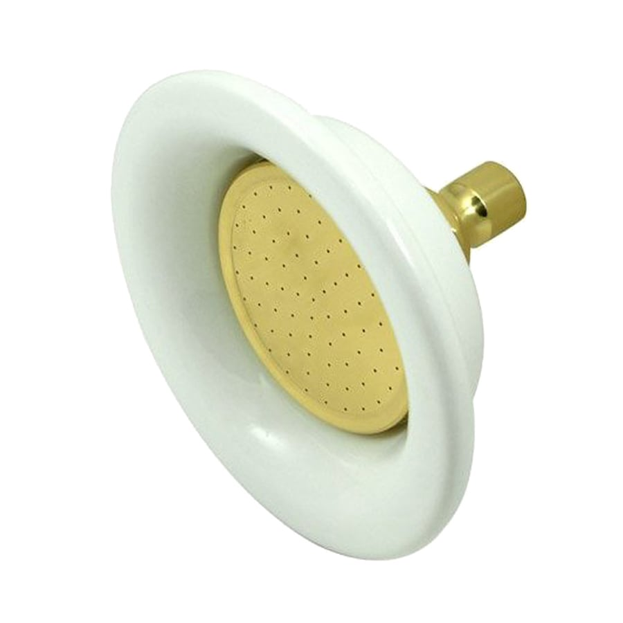 Elements of Design Victorian 6.25-in 2.5-GPM (9.5-LPM) Polished Brass Showerhead