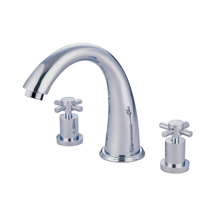 Elements of Design Concord Chrome 2-Handle Adjustable Deck Mount Bathtub Faucet