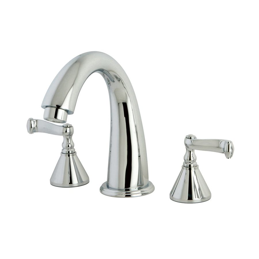 Elements of Design Chrome 2-Handle Adjustable Deck Mount Bathtub Faucet