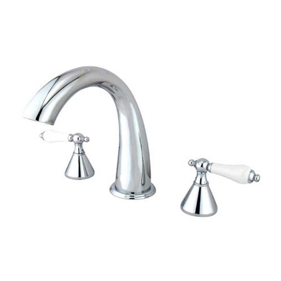 Elements of Design Chrome 2-Handle Adjustable Deck Mount Bathtub Faucet