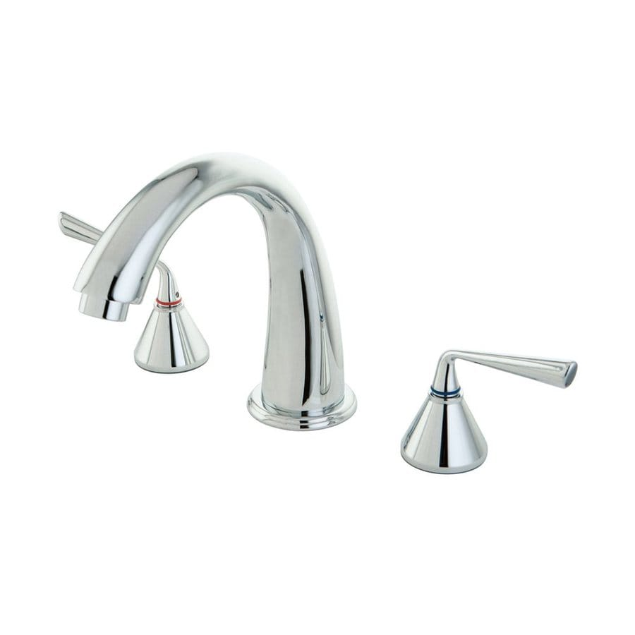 Elements of Design Silver Sage Chrome 2-Handle Adjustable Deck Mount Bathtub Faucet