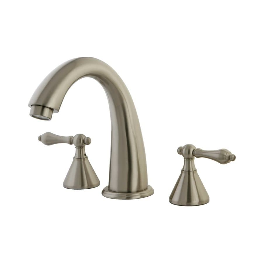Elements of Design Satin Nickel 2-Handle Adjustable Deck Mount Bathtub Faucet