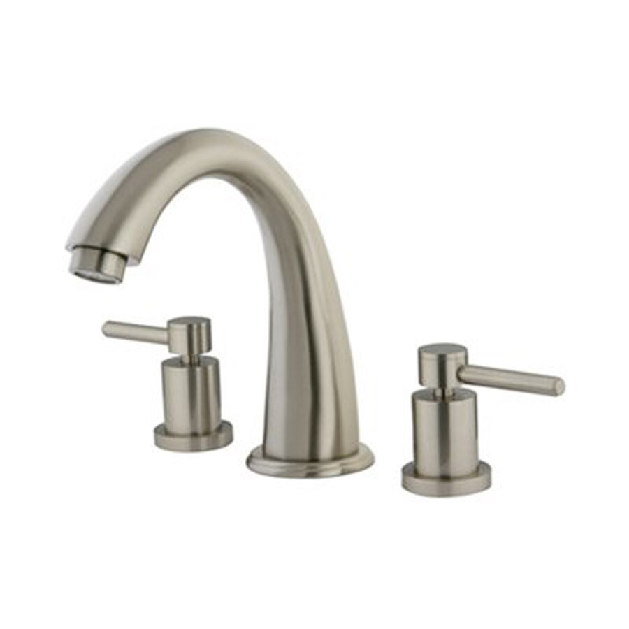 Elements of Design Nuvo Satin Nickel 2-Handle-Handle Adjustable Deck Mount Bathtub Faucet