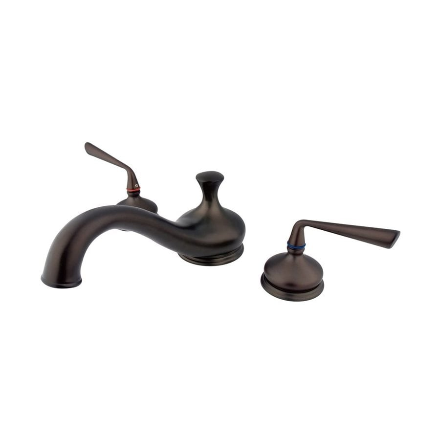 Elements of Design Silver Sage Oil Rubbed Bronze 2-Handle Adjustable Deck Mount Bathtub Faucet