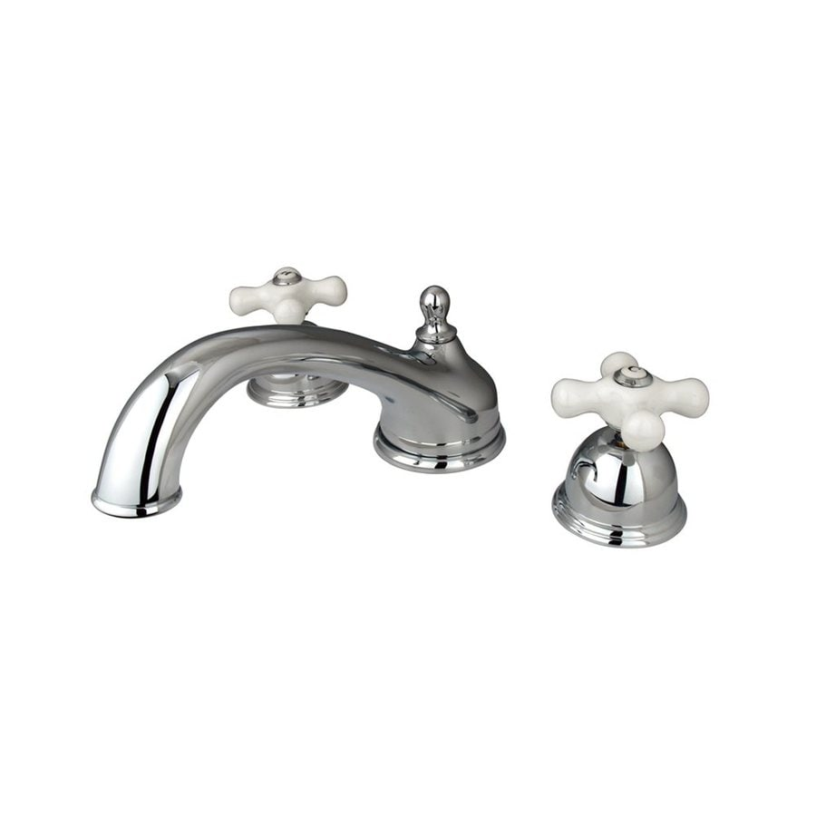 Elements of Design Chicago Chrome 2-Handle Adjustable Deck Mount Bathtub Faucet