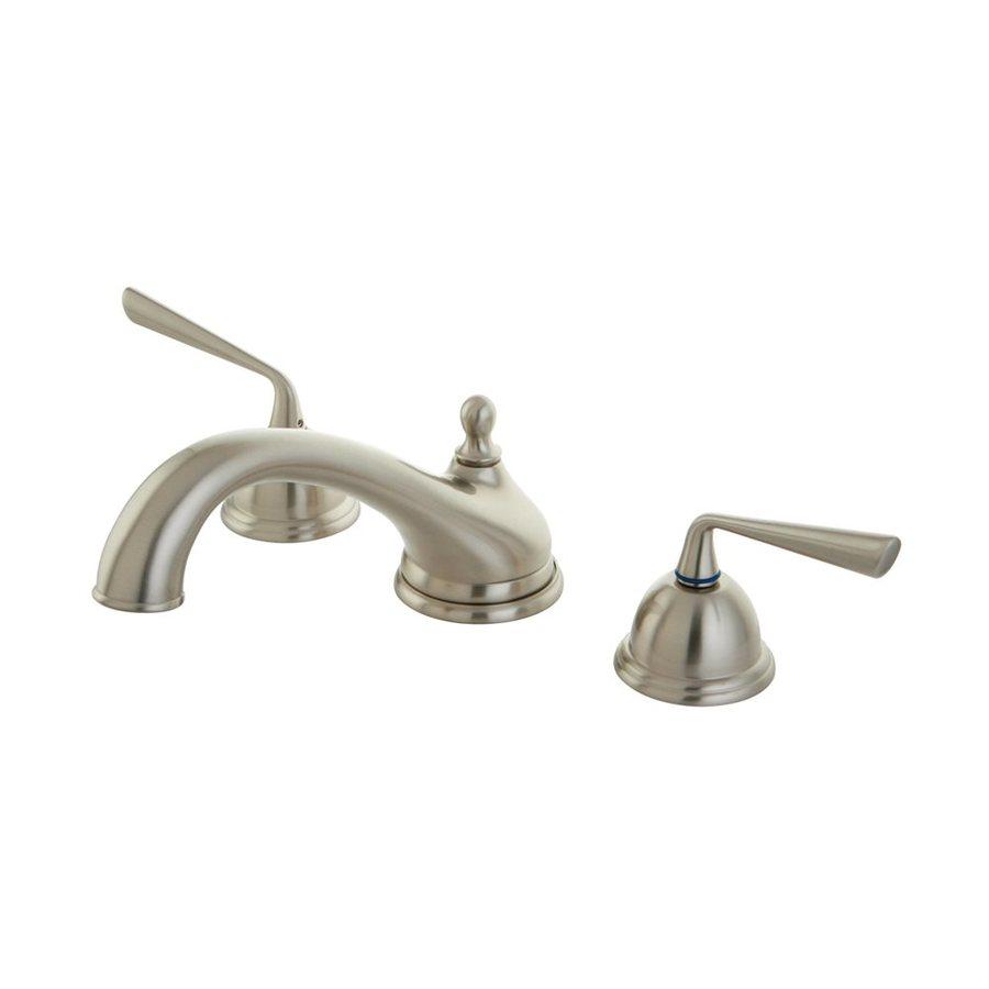 Elements of Design Silver Sage Satin Nickel 2-Handle-Handle Adjustable Deck Mount Bathtub Faucet