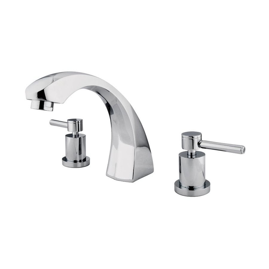 Elements of Design Concord Chrome 2-Handle-Handle Adjustable Deck Mount Bathtub Faucet