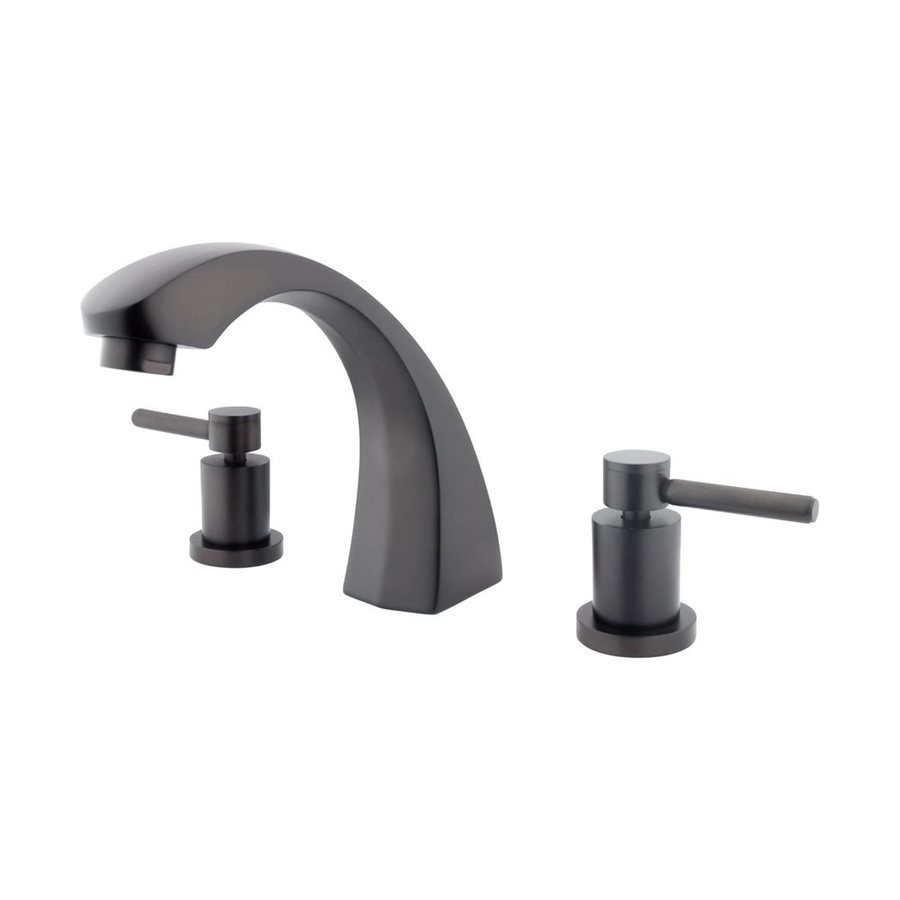 Elements of Design Concord Oil Rubbed Bronze 2-Handle Adjustable Deck Mount Bathtub Faucet
