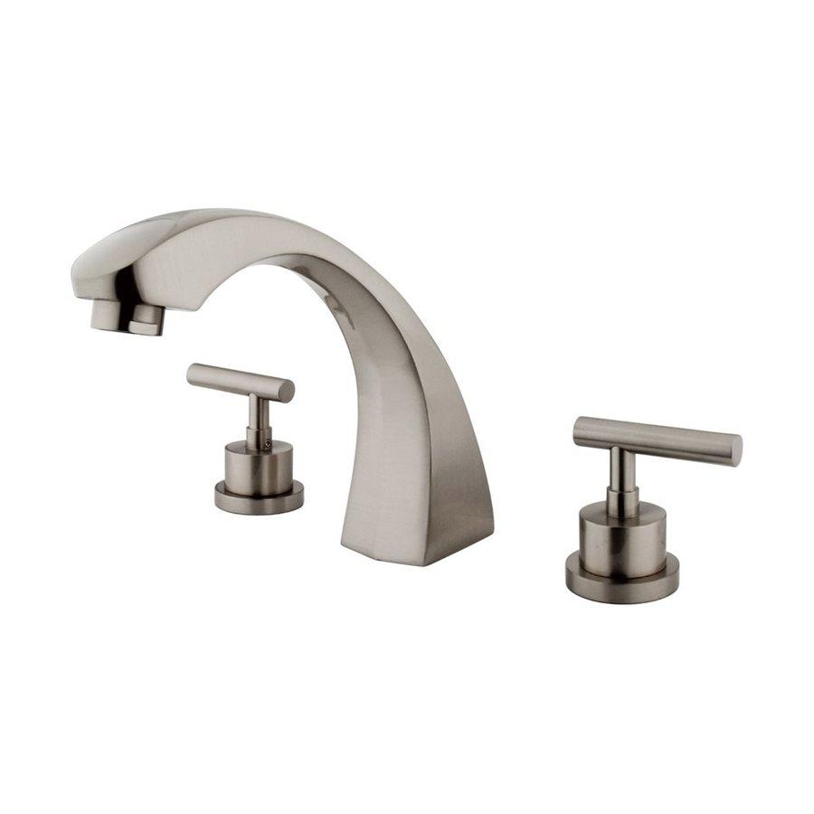 Elements of Design Manhattan Satin Nickel 2-Handle-Handle Adjustable Deck Mount Bathtub Faucet
