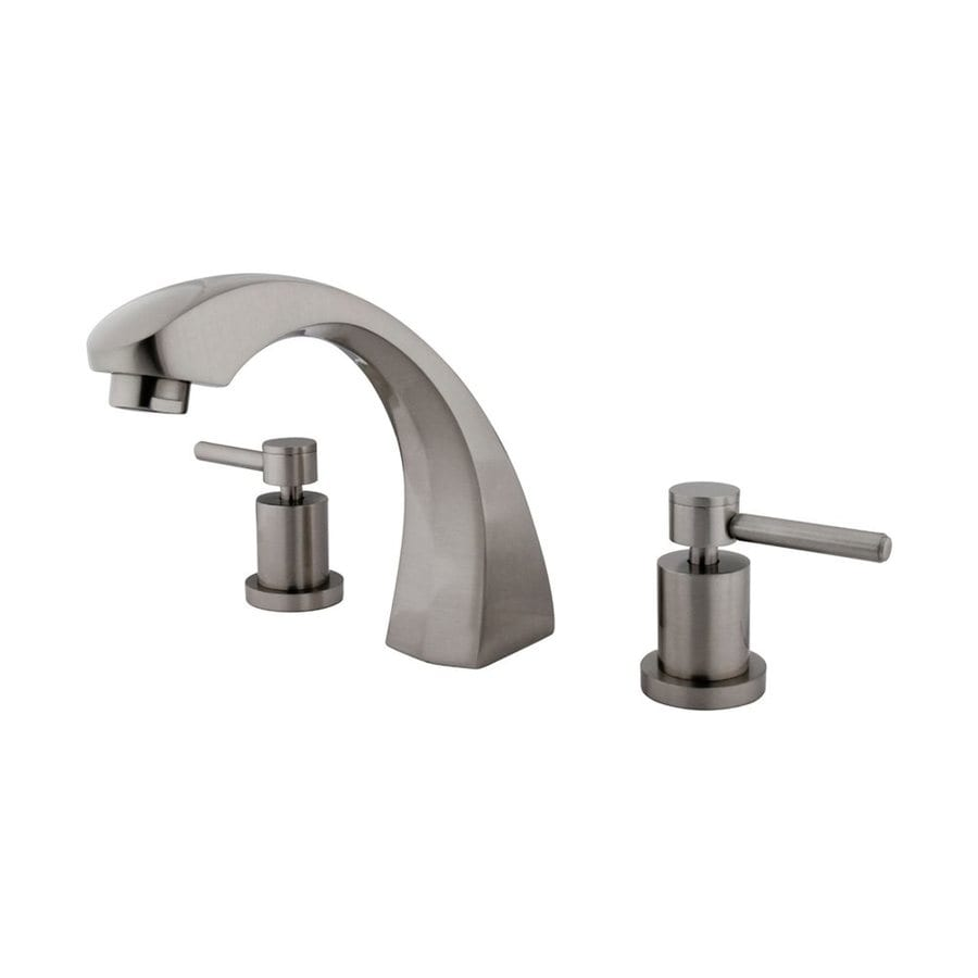 Elements of Design Concord Satin Nickel 2-Handle Adjustable Deck Mount Bathtub Faucet