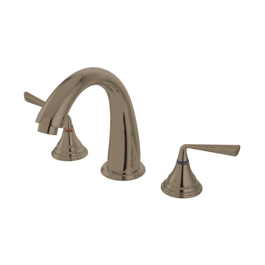 Elements of Design Silver Sage Satin Nickel 2-Handle Adjustable Deck Mount Bathtub Faucet