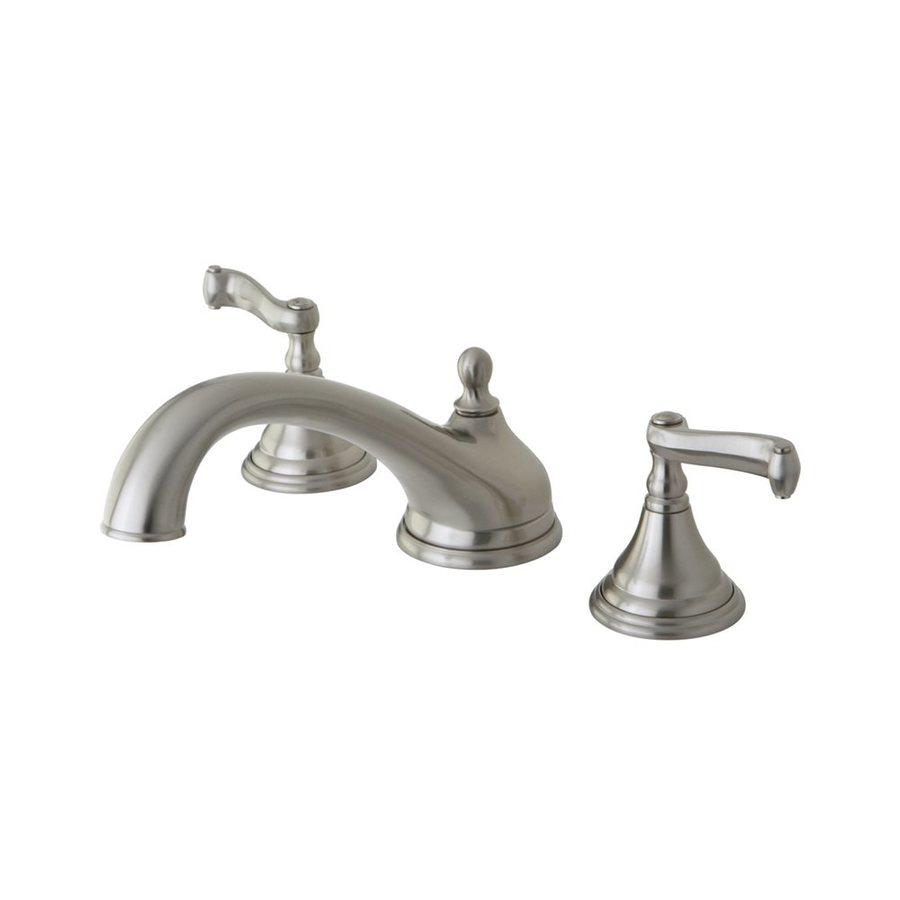Elements of Design Atlanta Satin Nickel 2-Handle Adjustable Deck Mount Bathtub Faucet