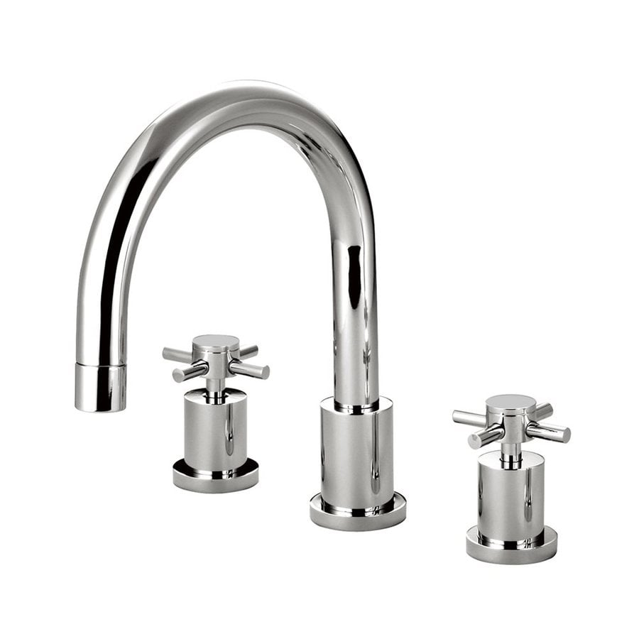 Elements of Design Concord Chrome 2-Handle Adjustable Deck Mount Bathtub Faucet