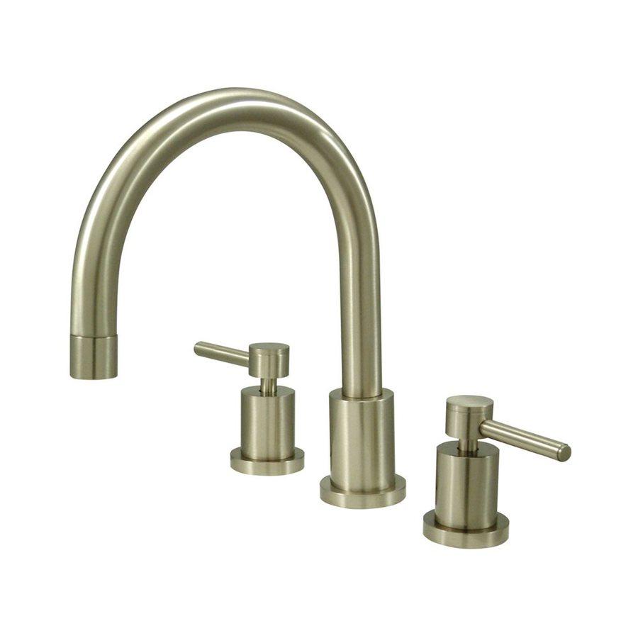 Elements of Design Concord Satin Nickel 2-Handle-Handle Adjustable Deck Mount Bathtub Faucet