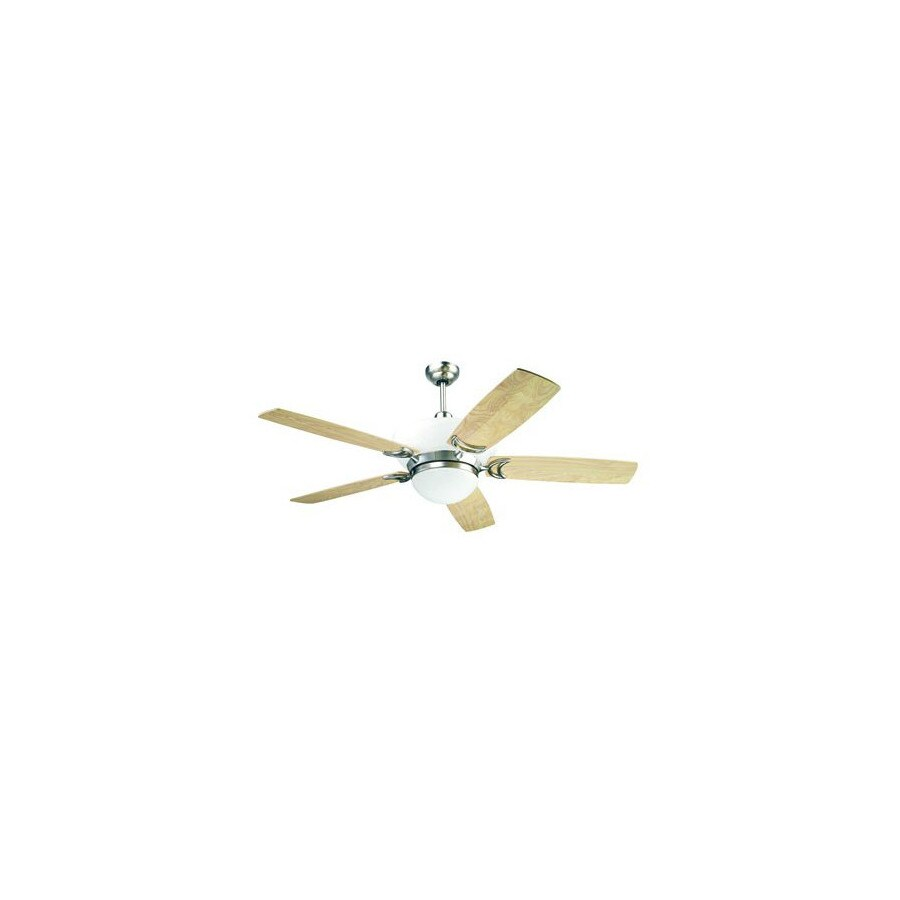 Yosemite Home Decor 56-in Bel Air Brushed Steel Ceiling Fan with Light Kit and Remote